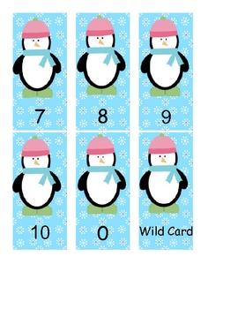 Winter Math Card Games