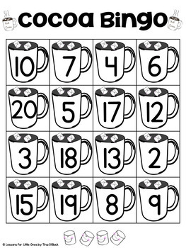 Winter Math Cards & Games (tally marks, ten frames, subitizing, #1-20)