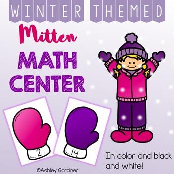January Math Center for Kindergarten {Winter Math Centers for Kindergarten}