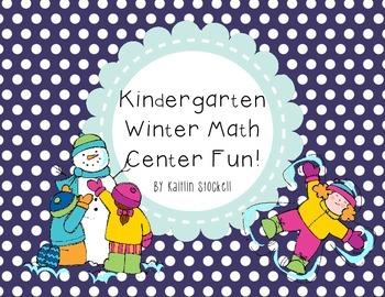 Kindergarten Winter Math Center Activities!