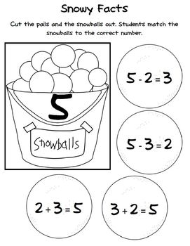 Winter Math Center Activities aligned with the Common Core