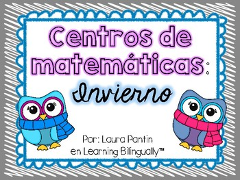Winter Math Center Activities in Spanish