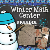 FREE Winter Math Center: Addition and Subtraction