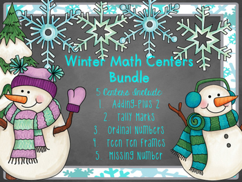 Winter Math Center Bundle
