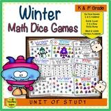 Winter Math Center Dice Games