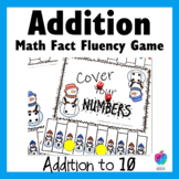 Winter Math Center Game - Fluency to Ten - 1st Grade -  No Prep