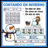 Winter Math Centers  Skip Counting by 2s, 5s and 10s in Spanish