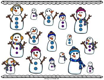 Winter Math Center:  Snowmen Ratios and Percents WORD PROBLEM Task Cards