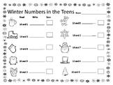 Winter Math Center with QR codes