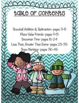 5 Winter Math Centers