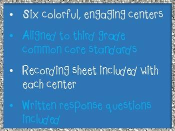Winter Math Centers 3rd Grade *Common Core*