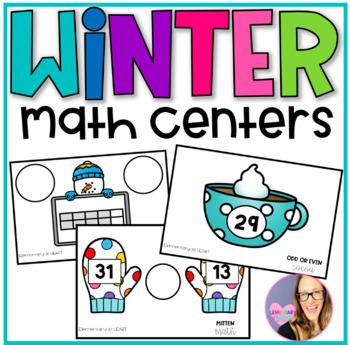 Winter Math Centers for Kindergarten and First Grade