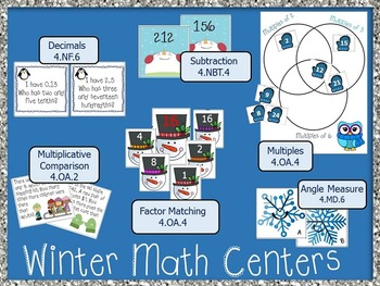 Winter Math Centers 4th Grade *Common Core*