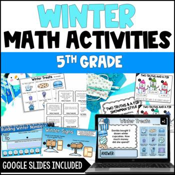 5th Grade Winter Math Centers