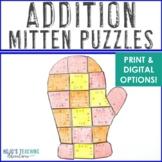 Winter Math Centers: Addition Puzzles | The Mitten Math Ac