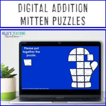 ADDITION Winter Math Center Puzzles | The Mitten Activities or Games