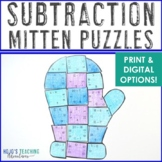 Winter Math Centers: Subtraction Puzzles   The Mitten Math