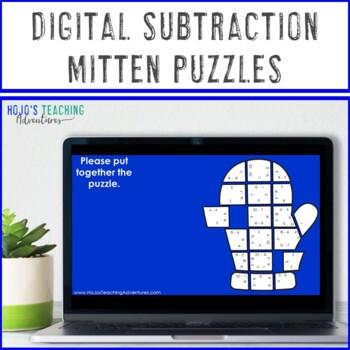 SUBTRACTION Winter Math Worksheet Alternatives   The Mitten Activities or Games