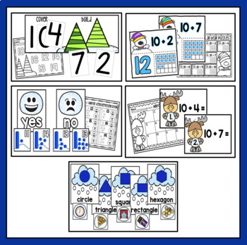 Winter Math Centers: Base Ten & Geometry