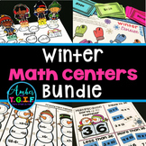 3rd Grade Math Centers Winter Theme Bundle