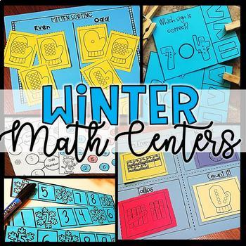 Winter Math Centers Bundle