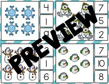 Winter Math Centers | Clip Cards | Tallies | Ten Frames