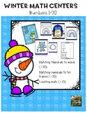 Winter Math Centers (Counting and Number Words 1-20)