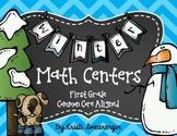 Common Core Aligned Winter Math Centers (First Grade)