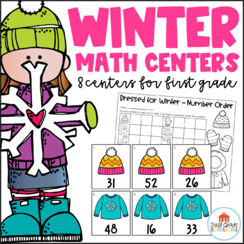 Winter Math Centers First Grade