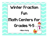 Winter Math Centers-Fraction Fun