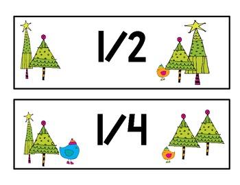 Winter Math Centers-Fraction Fun