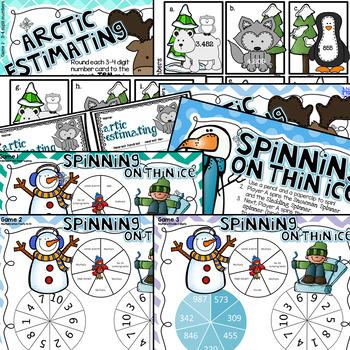 Differentiated Winter Math Centers Grades 3-4