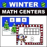 Winter Math Centers Kindergarten/preschool