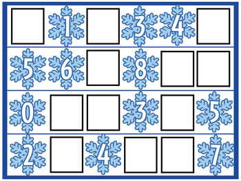 Winter Math Centers- Missing Numbers 1-10