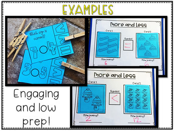 Winter Math Centers- More, Less, and Equal to Activities