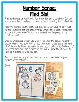 Winter Math Centers:  Number Sense for Preschool, PreK, K, & Homeschool