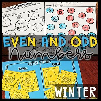 Winter Math Centers- Odd and Even Numbers