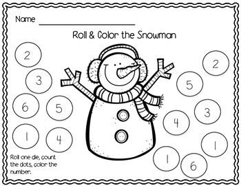 Winter Math Centers Pack