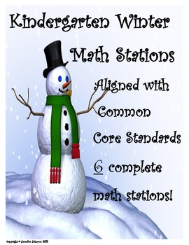 Winter Math Centers Stations Aligned with Kindergarten Common Core