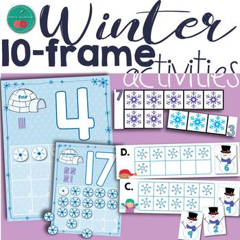 Winter Ten Frames Activities