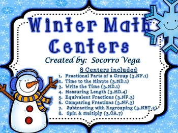 Winter Math Centers: Third Grade!