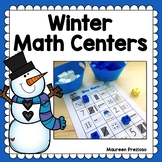 Winter Math Centers for Kindergarten