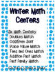 Winter Math Centers for 1st and 2nd Graders