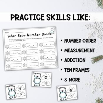 Winter Math Centers for Kindergarten
