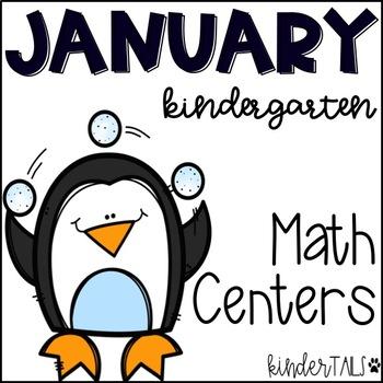 Winter {January} Math Centers for Kindergarten