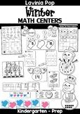 Winter Math Centers for Kindergarten B&W