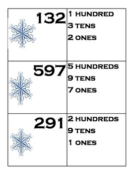 Winter Math Centers for Second Grade