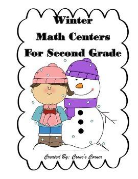 Winter Math Centers for Second Grade