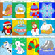 Winter Math | Winter coloring pages | Color by Code No Prep Printables