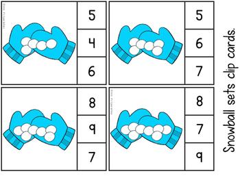 Winter Math Clip Cards FREEBIE